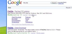 Use the free FileZilla FTP client on a Windows XP PC