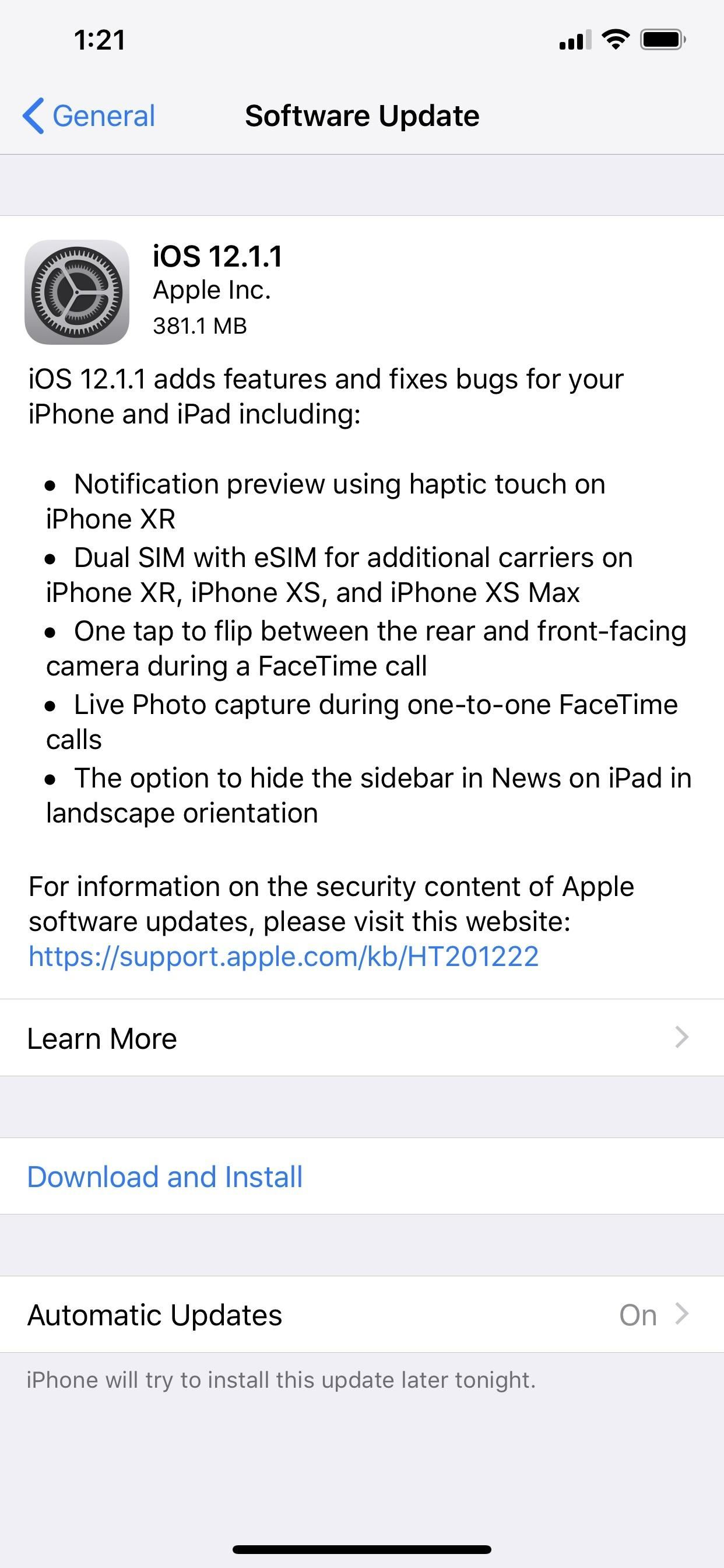Apple Released iOS 12.1.1 with FaceTime Live Photos, More Haptic Feedback Tricks for iPhone XR & More