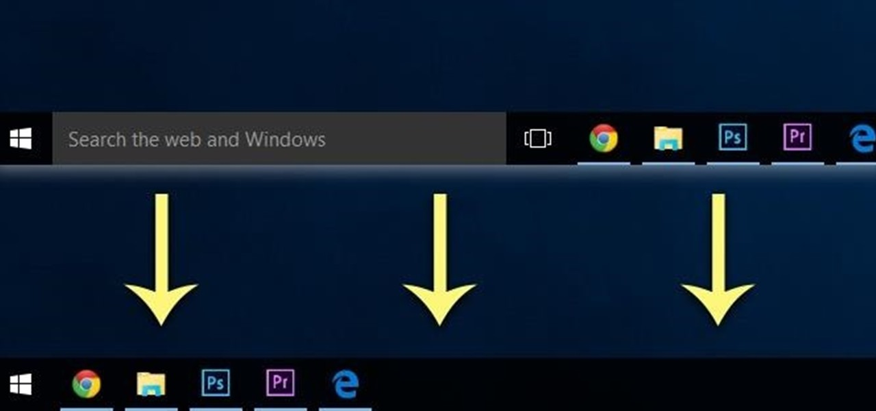 get rid of the search bar task view button in the taskbar on windows 10