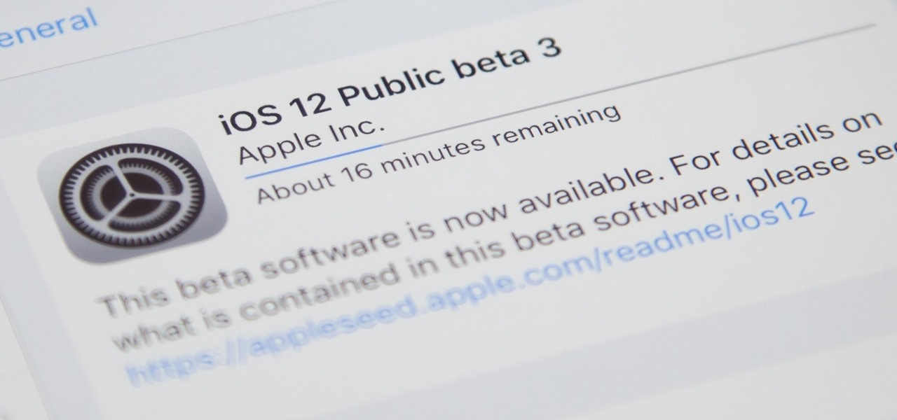 iOS 12 Public Beta 3 Released for iPhone Software Testers