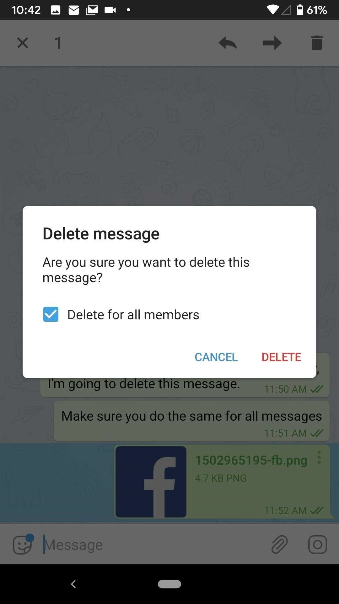 How to Delete Telegram Messages & Whole Conversations for Everyone