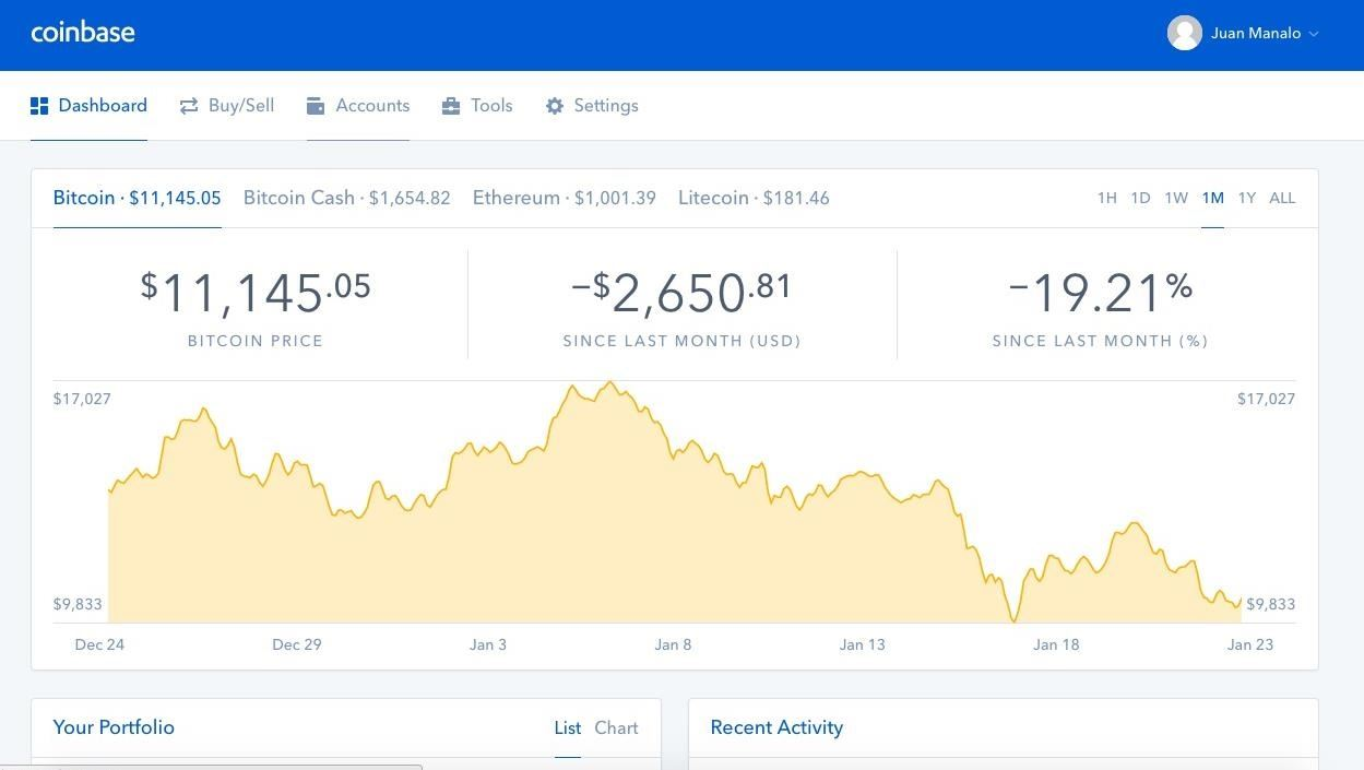 how to start a coinbase account