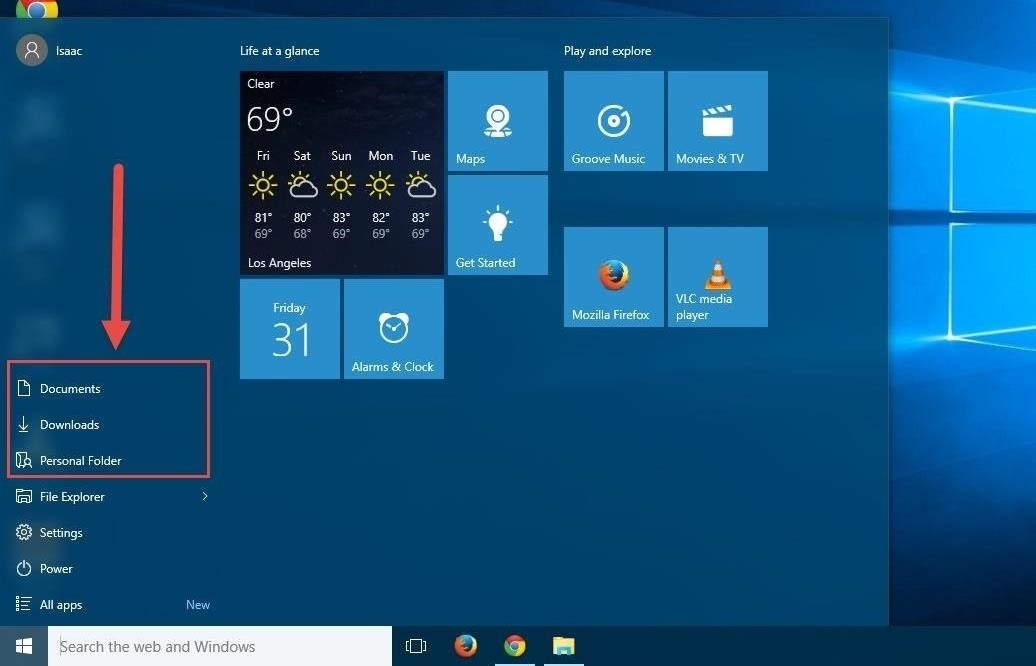 How to Add Documents, Downloads, Pictures, & Other Folders to the Windows 10 Start Menu