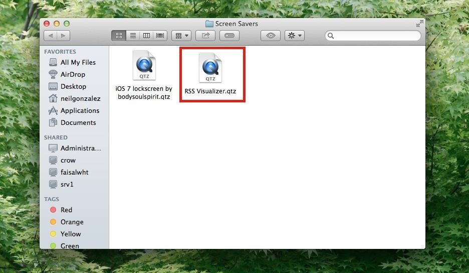 How to Get Apple's RSS Visualizer Back as a Screensaver in Mac OS X 10.8 & Higher