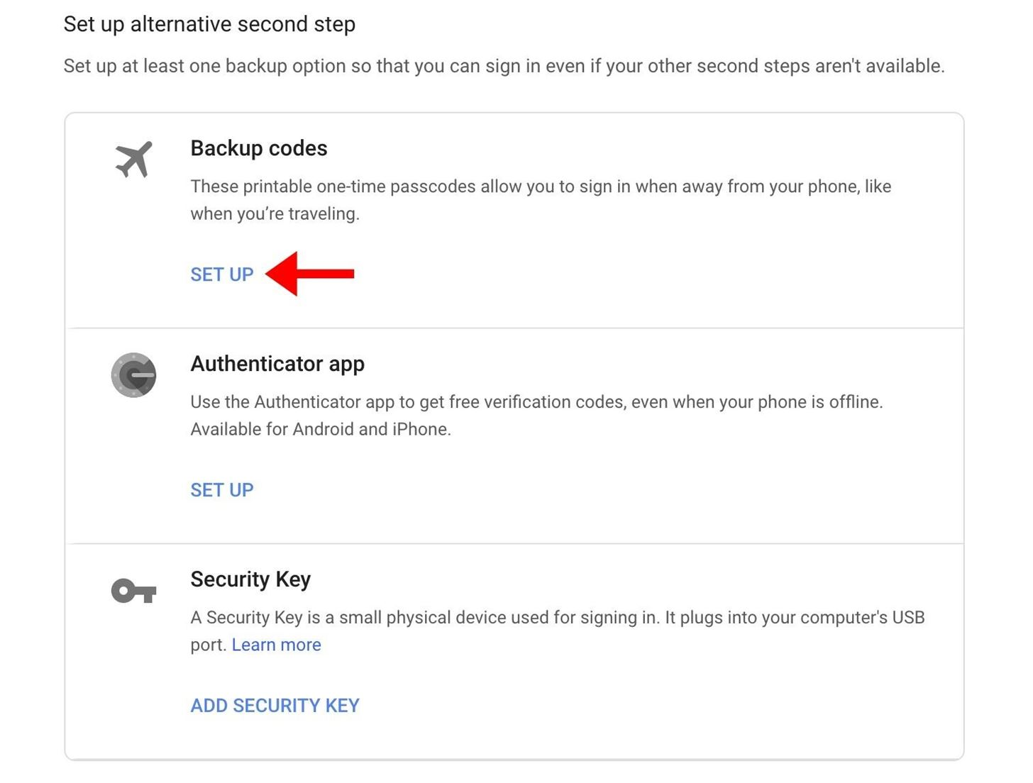 Use your phone as a security key to sign in to your Google Account on any computer.