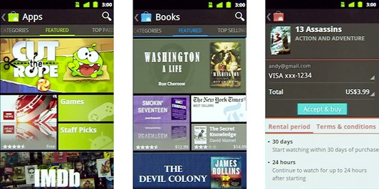 New Android Market Update Lets You Rent Movies and Buy eBooks