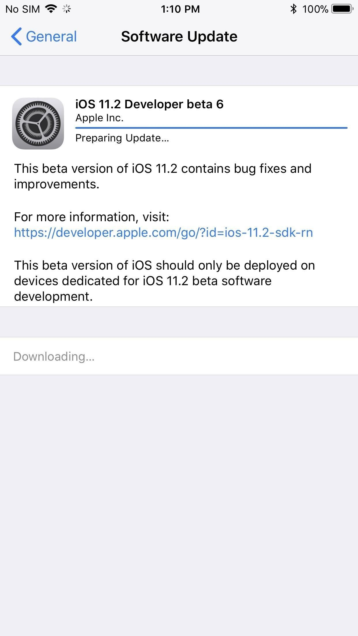 iOS 11.2 Beta 6 Released Days After Beta 5 — Expect Public Version Next Week