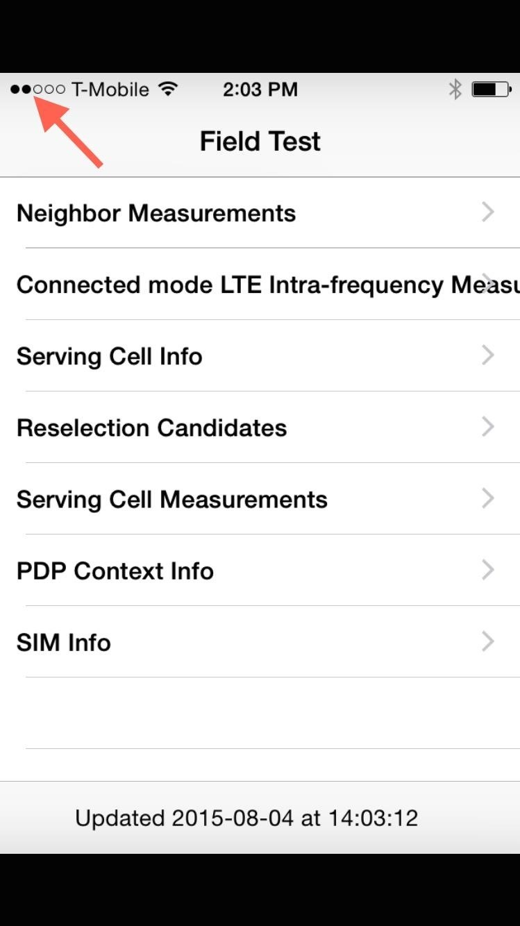 Unlock A Hidden Network Strength Meter For Your Iphones Status Bar