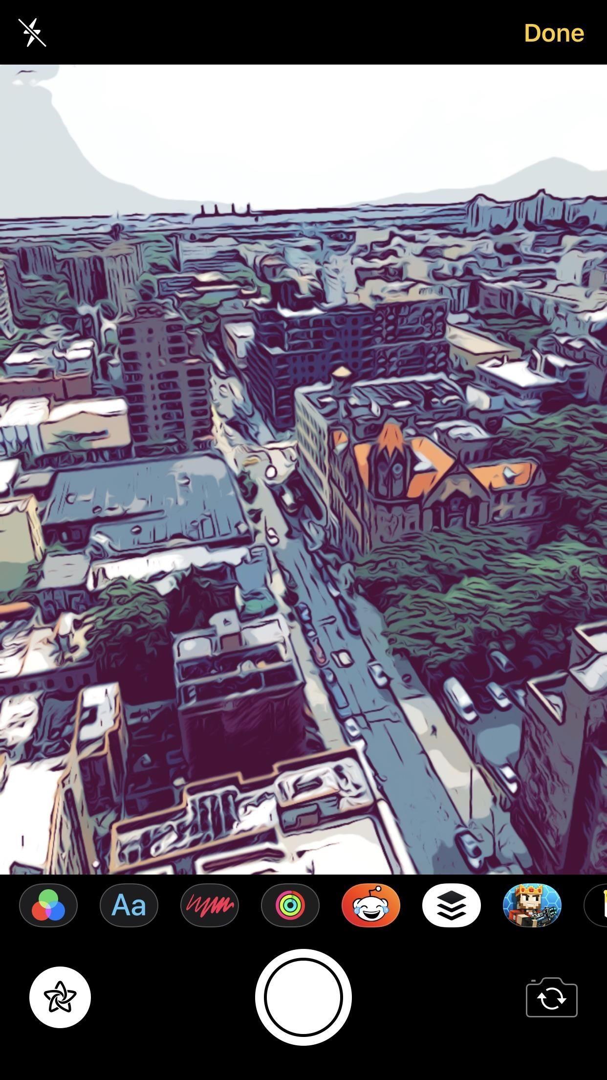 gizli iphone filtresi comic book