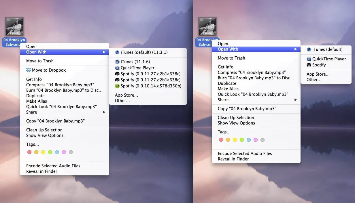 "How to Remove Duplicates & Customize the ""Open With"" Menu in Mac OS X"