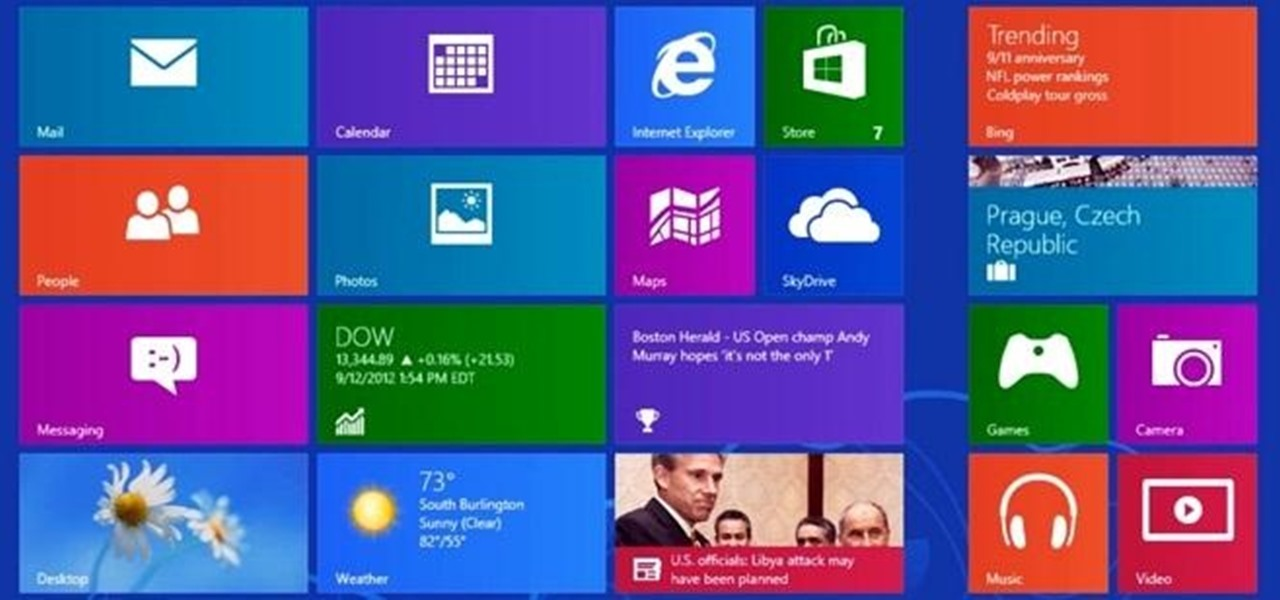New to Windows 8? See How the Start Screen, Charms Bar, and Quick Access Menu Work