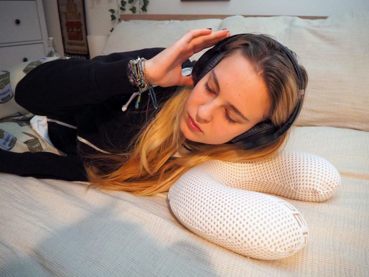 The Secret to Laying Down on Your Side with Headphones On