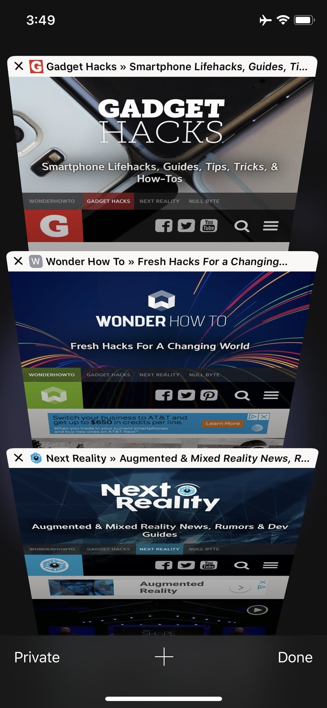 How to Show Website Icons on Safari Tabs in iOS 12