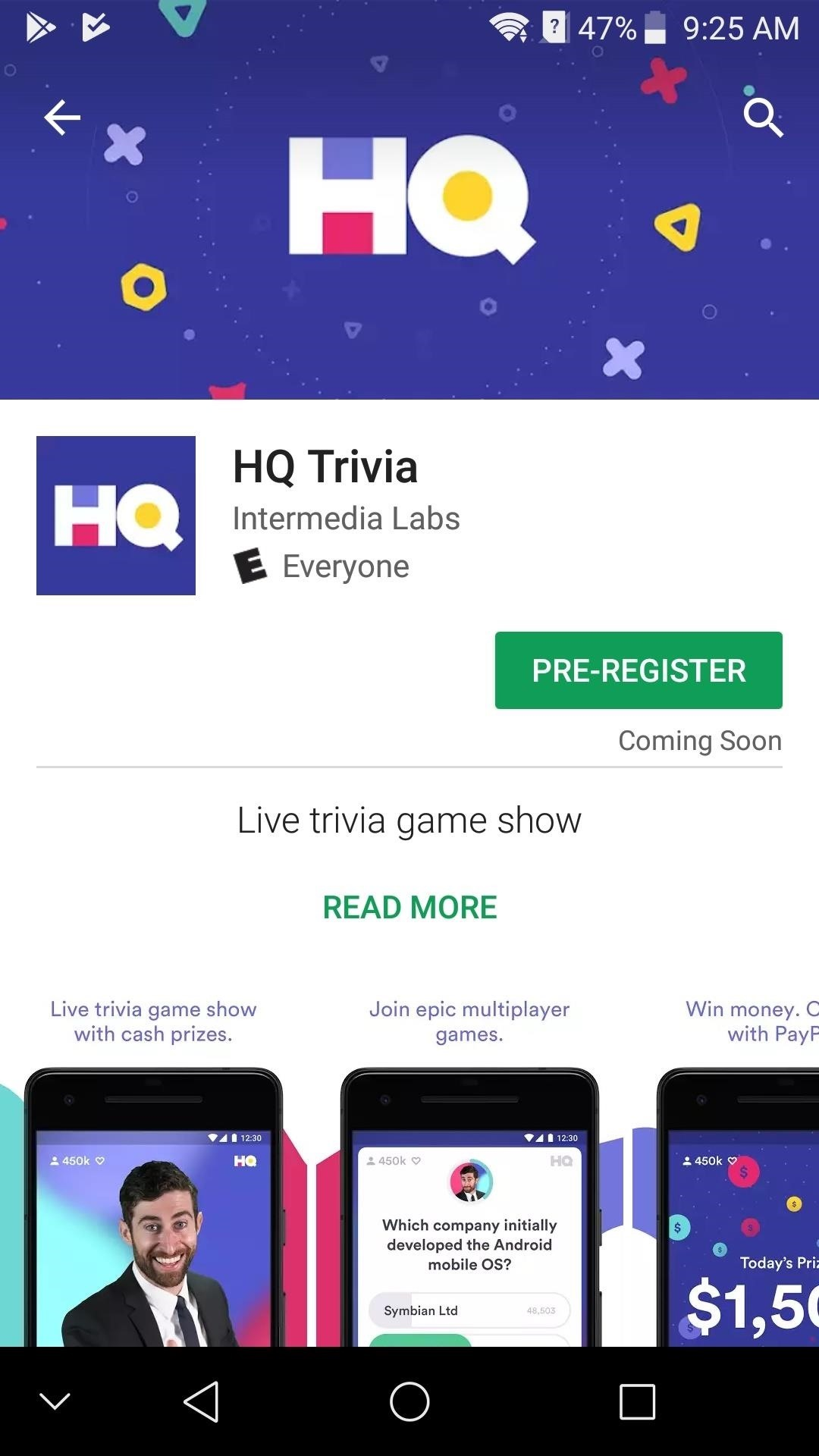 HQ Trivia Now Available to Download on Android