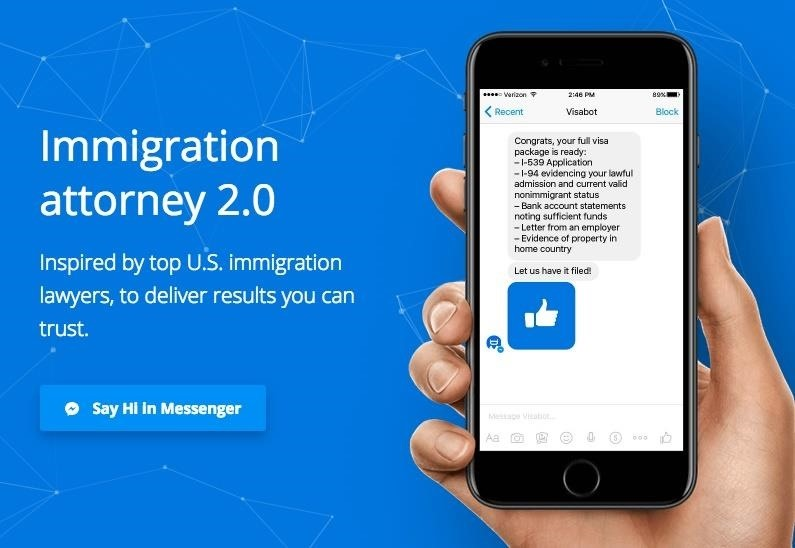 Facebook Messenger's 'Visabot' Can Help You Apply for Your Green Card