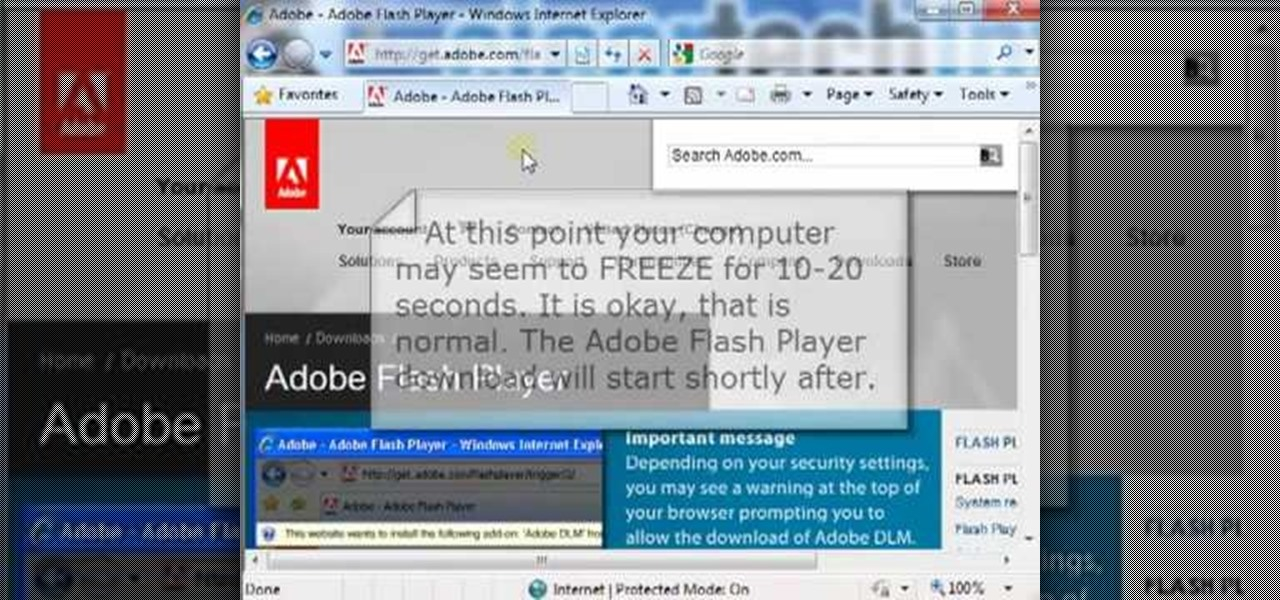 How to install the adobe flash player on internet explorer Install adobe flash