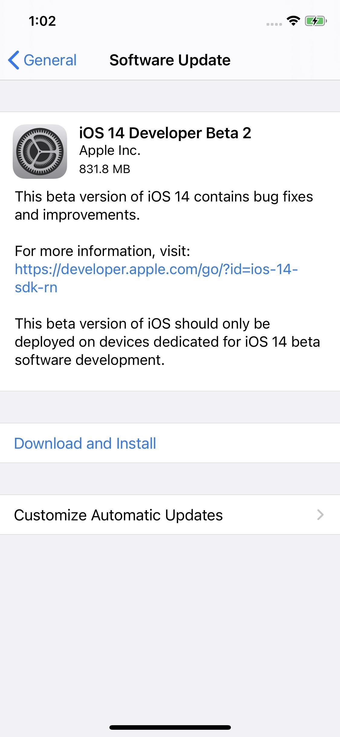 Apple Releases iOS 14 Developer Beta 2 for iPhone