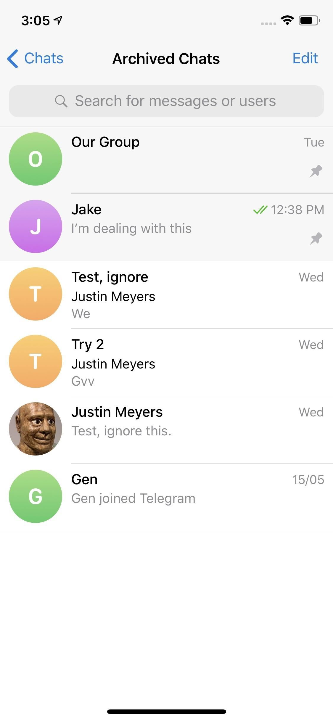 How to Archive Telegram Conversations to Keep Your Main