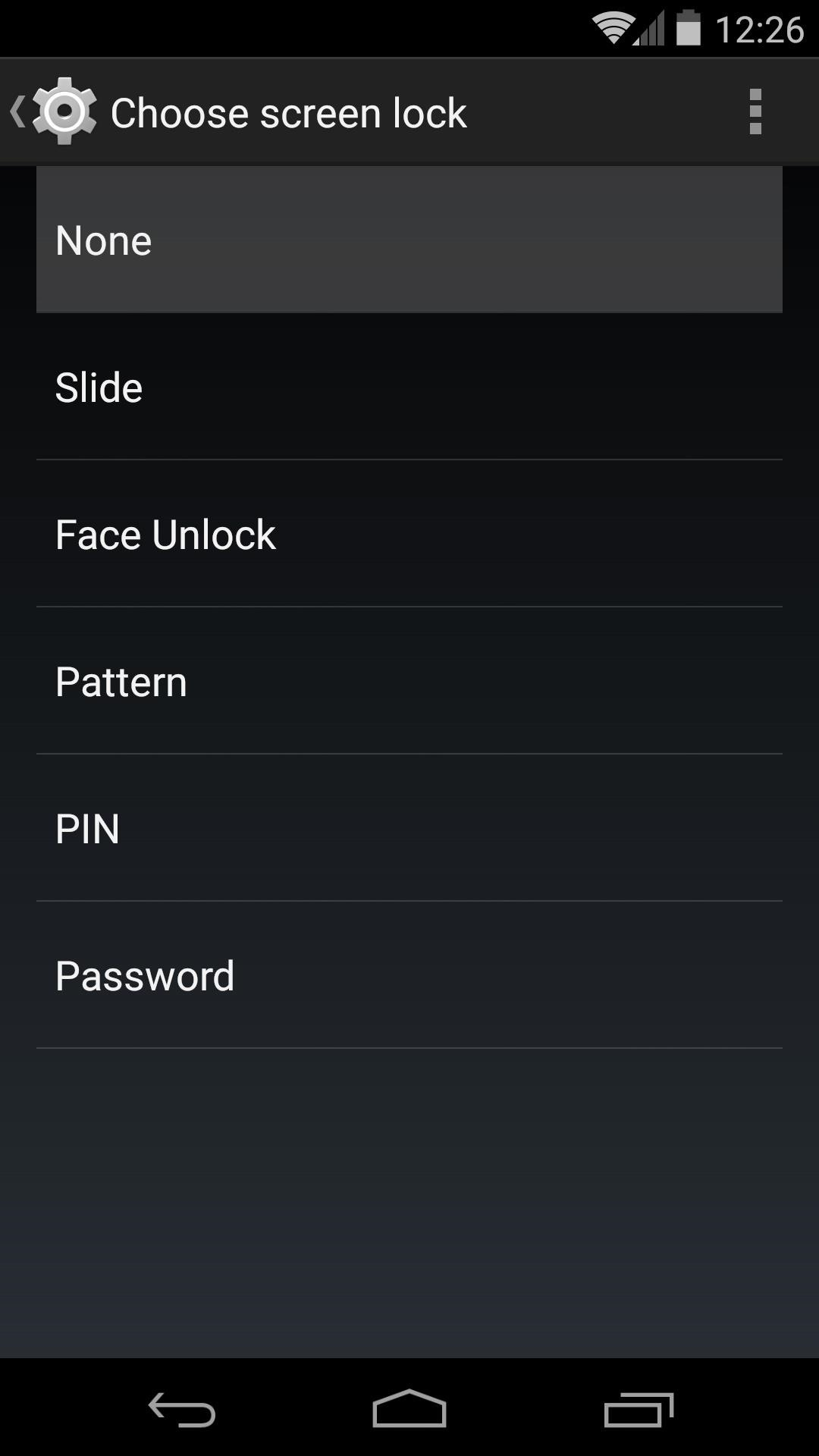 how to create lock screen in android
