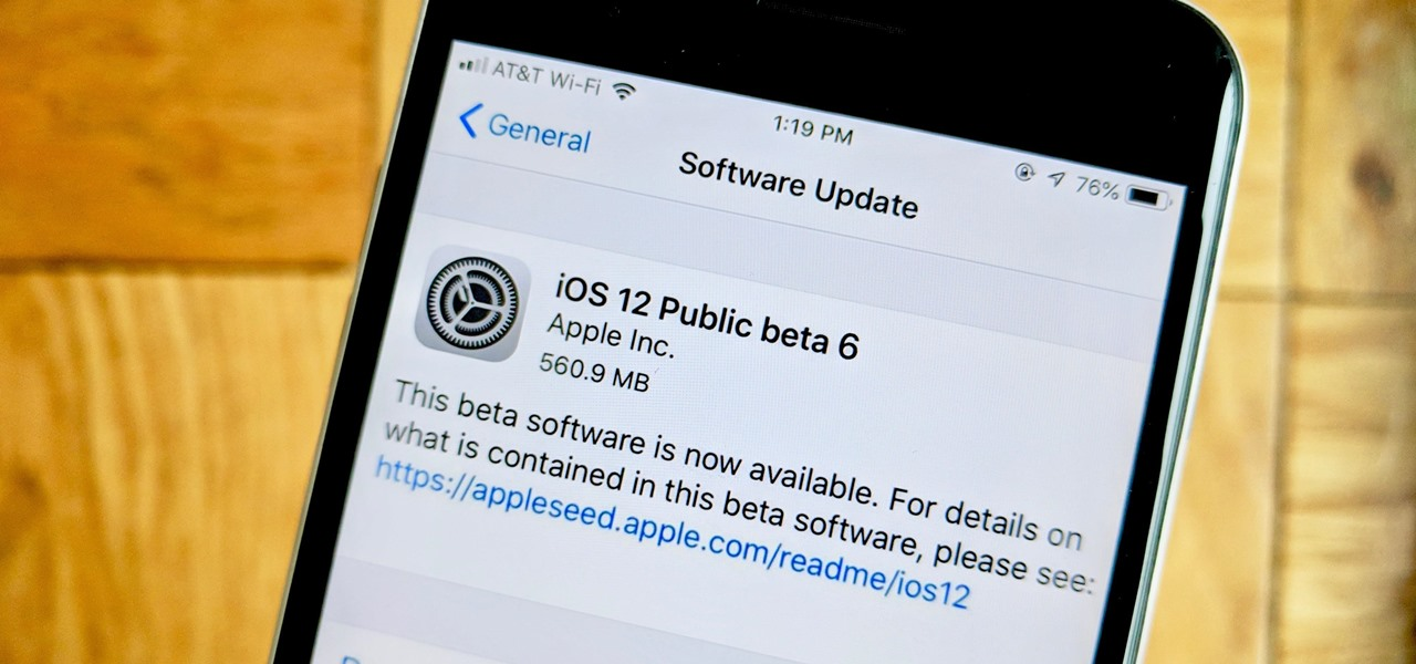 iOS 12 Public Beta 6 Released to Apple Software Testers