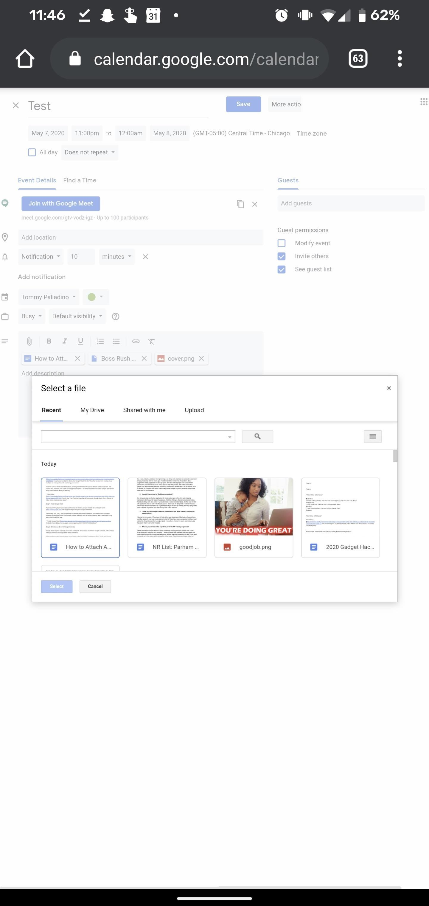 How to Attach Any File to Your Google Meet Video Conference