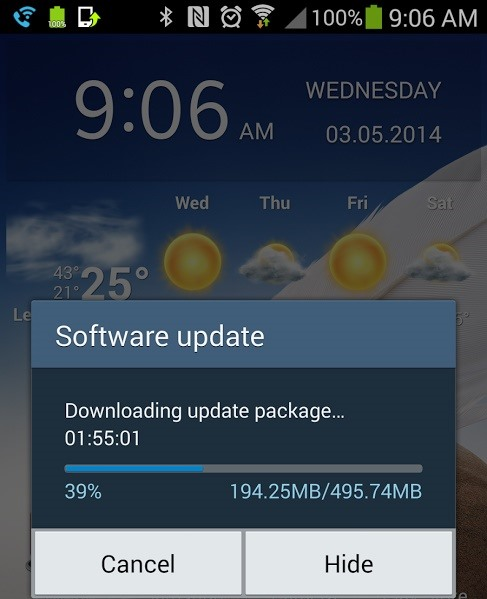 KitKat Update Rolling Out Right Now for the T-Mobile Samsung Galaxy Note 3