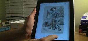 Read ebooks on an Apple iPad with the iBooks app