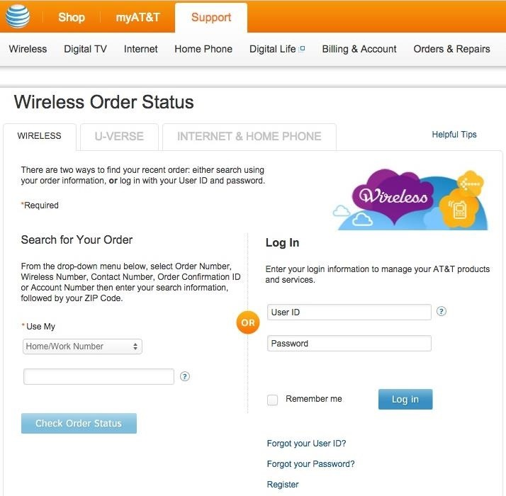 After submitting an order online, you will receive a confirmation email that contains your order number. To check your order online, you simply need your order number or wireless number and zip code and click the link here: Check Your Order Status You can also check your order status .