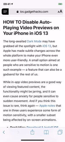 Force Safari to Automatically Show Reader View for Specific Websites on Your iPhone