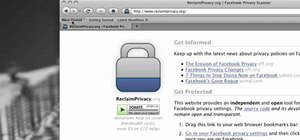 Use Facebook's Privacy Scanner for Firefox on a Mac