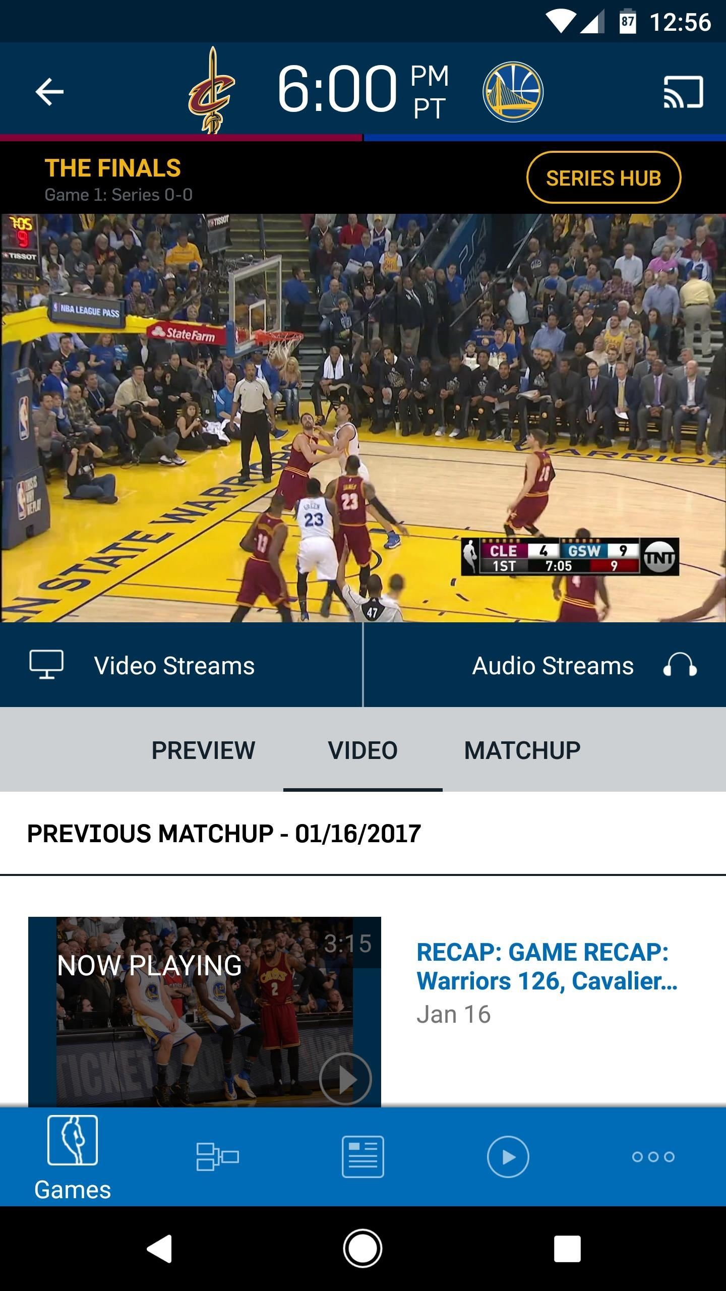 Cavs vs. Warriors: How to Watch the 2017 NBA Finals on Your Smartphone for Free — Without a Cable Subscription
