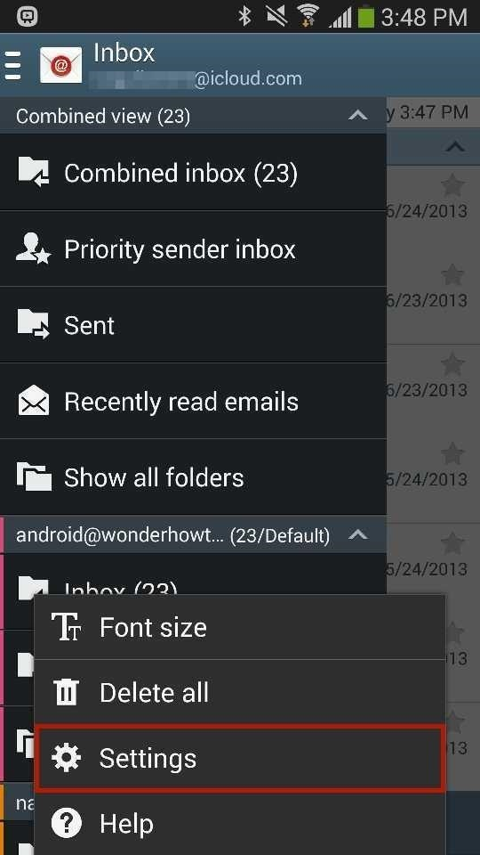 How to Add Your iCloud Email Account to Your Galaxy Note 3 or Other Android Device