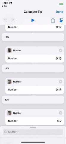 Calculating tips on your iPhone faster Using the Shortcuts App