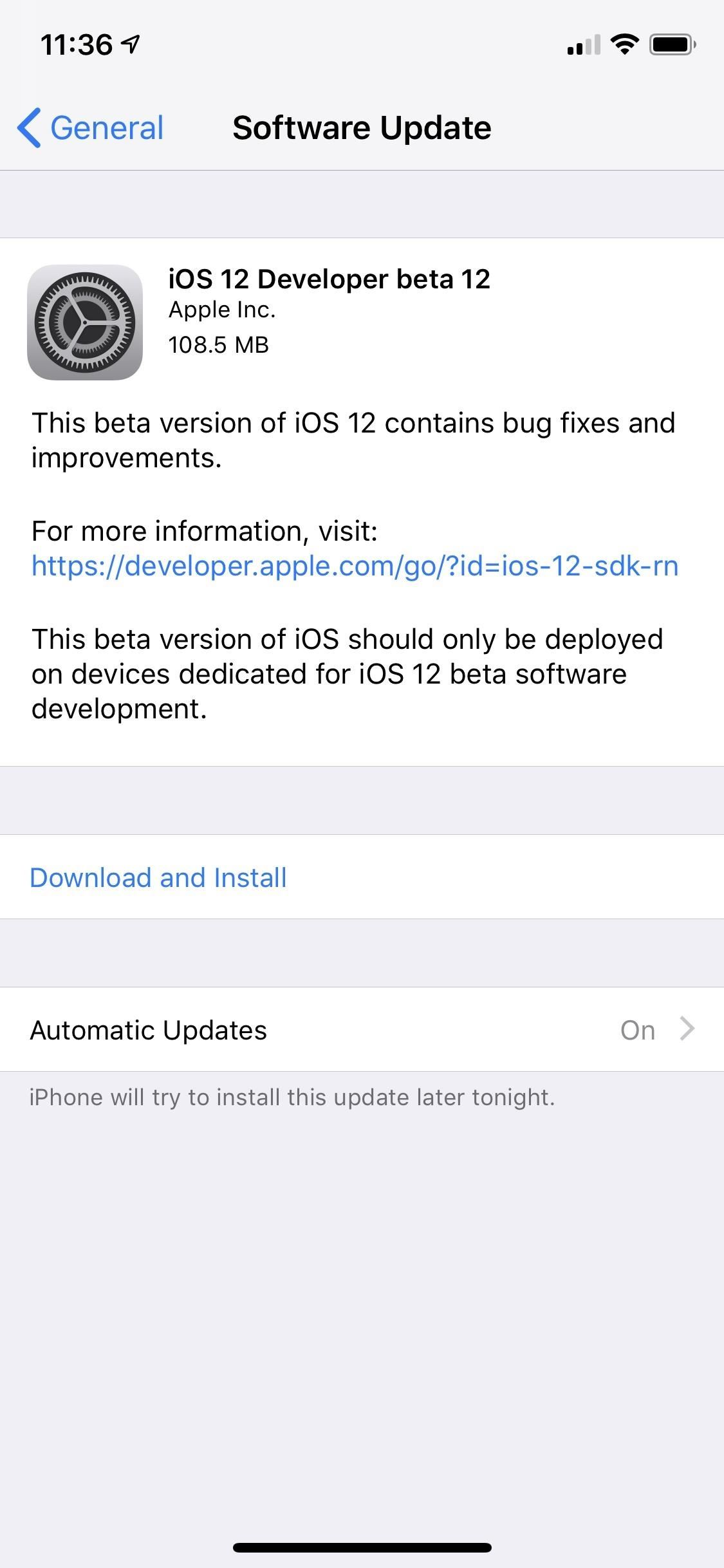 Apple has just released iOS 12 Beta 12 for iPhone for developers, fixes Software Update Bug