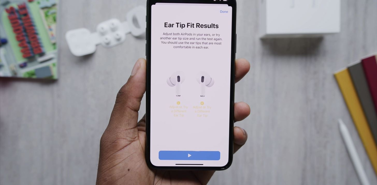 Your AirPods Pro recognizes the size you should use