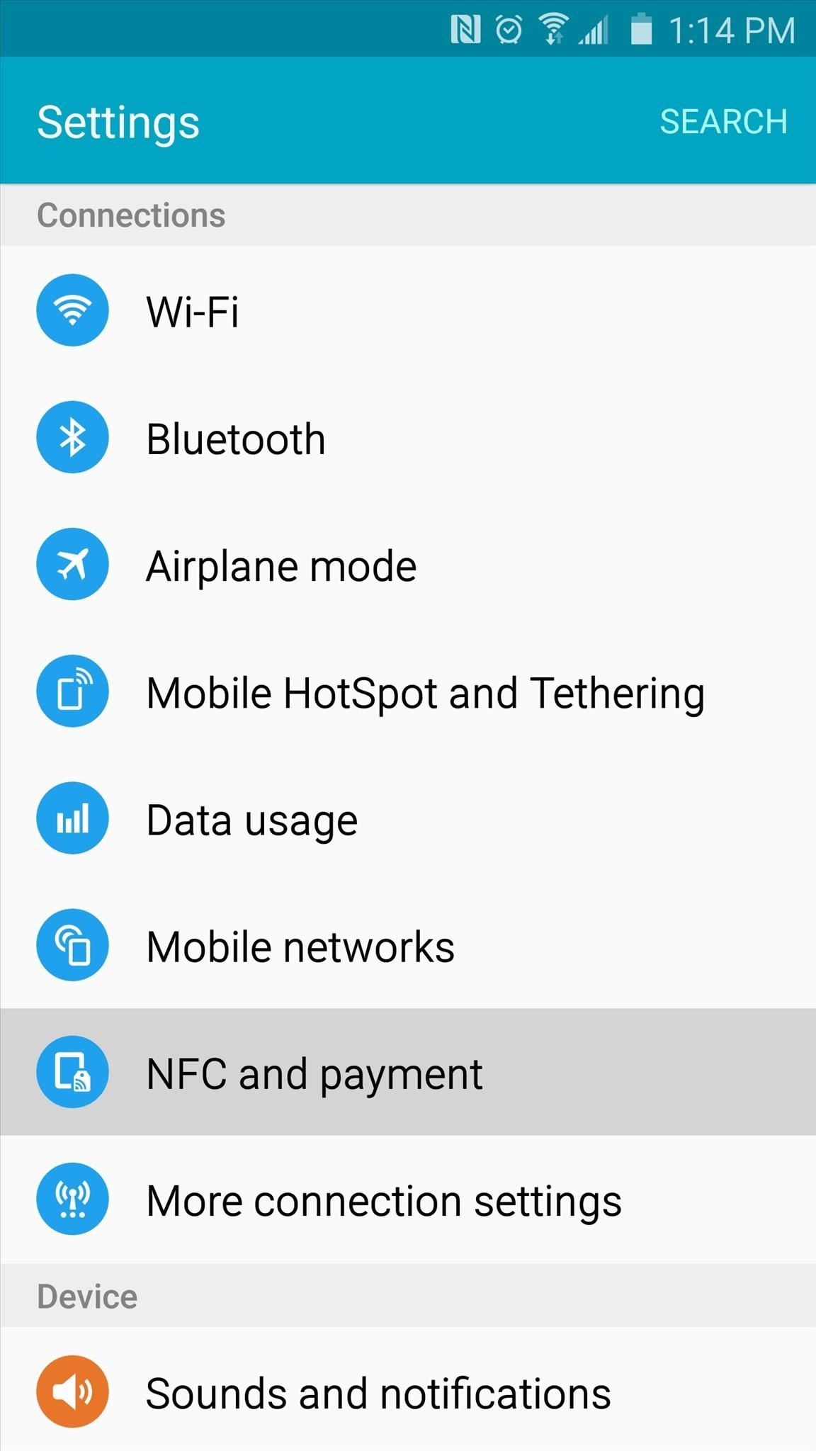 4 ways to clean up the status bar on your galaxy s6 without rooting the switch at the top of the screen to off though note that some carriers like sprint do not display this icon whether you have nfc enabled or not buycottarizona Images