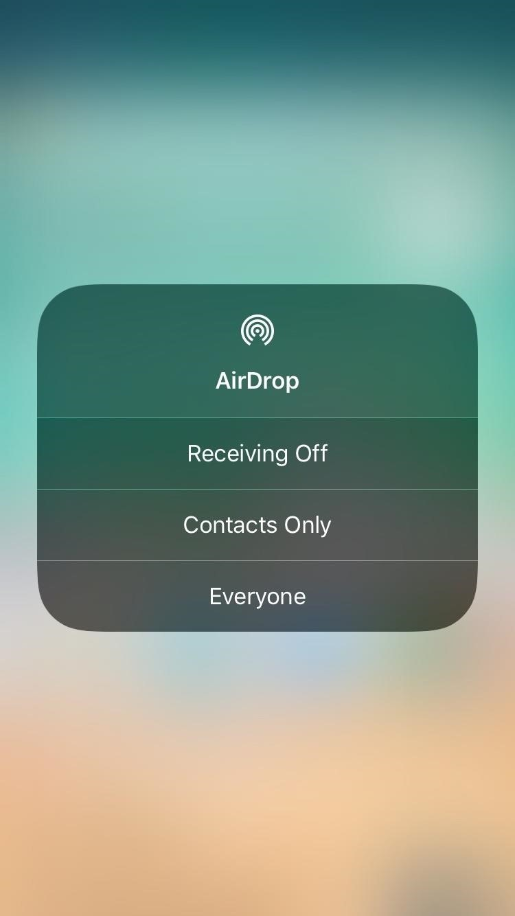 How to Access Your AirDrop Settings in iOS 11's New Control Center