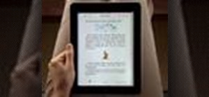 Use the iBooks app on the Apple iPad