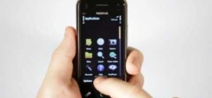 Use smooth scrolling on a Nokia N97 Mini smartphone