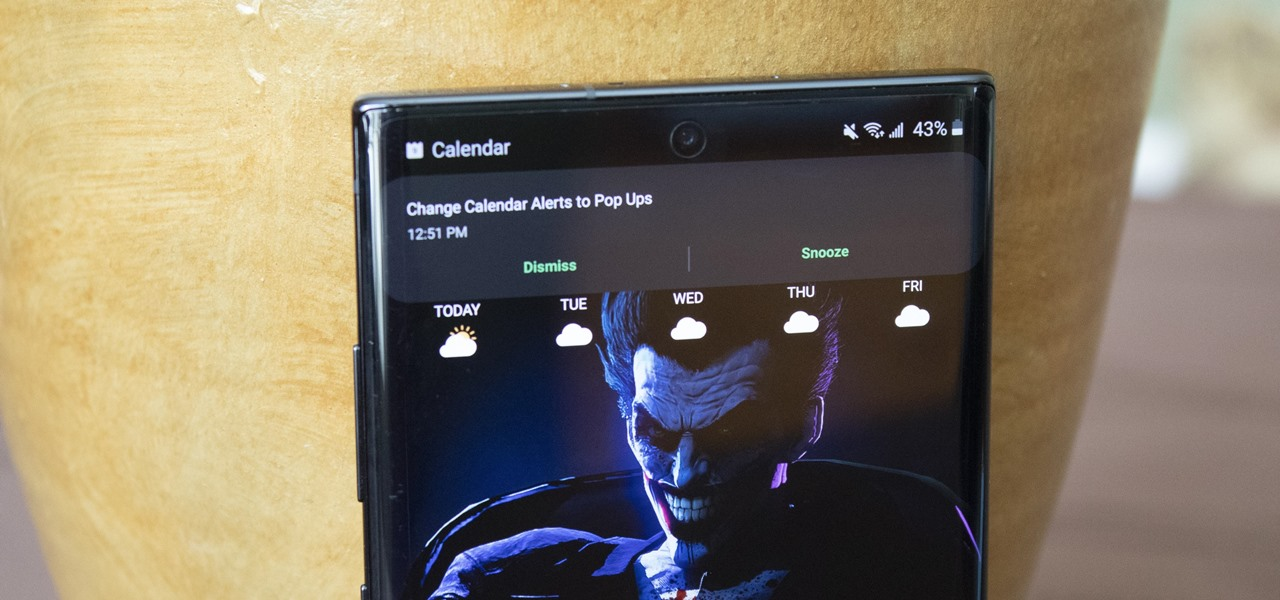 Disable the Full-Screen Calendar Alerts on Your Samsung Galaxy Phone