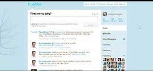 Establish an account on Twitter