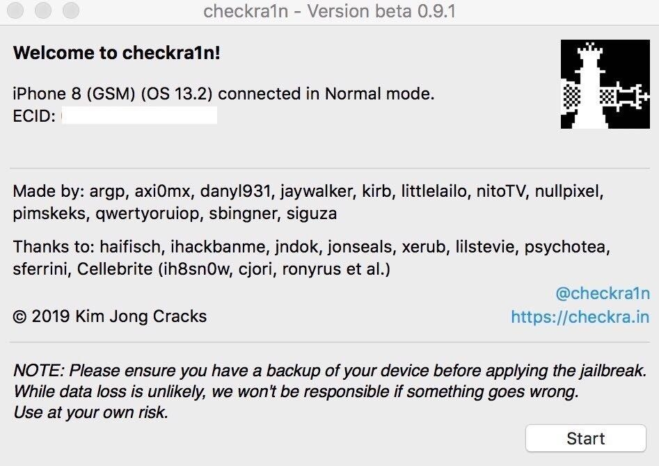 Jailbreak from iOS 12.3 to iOS 13.2.2 on your iPhone with Checkra1n
