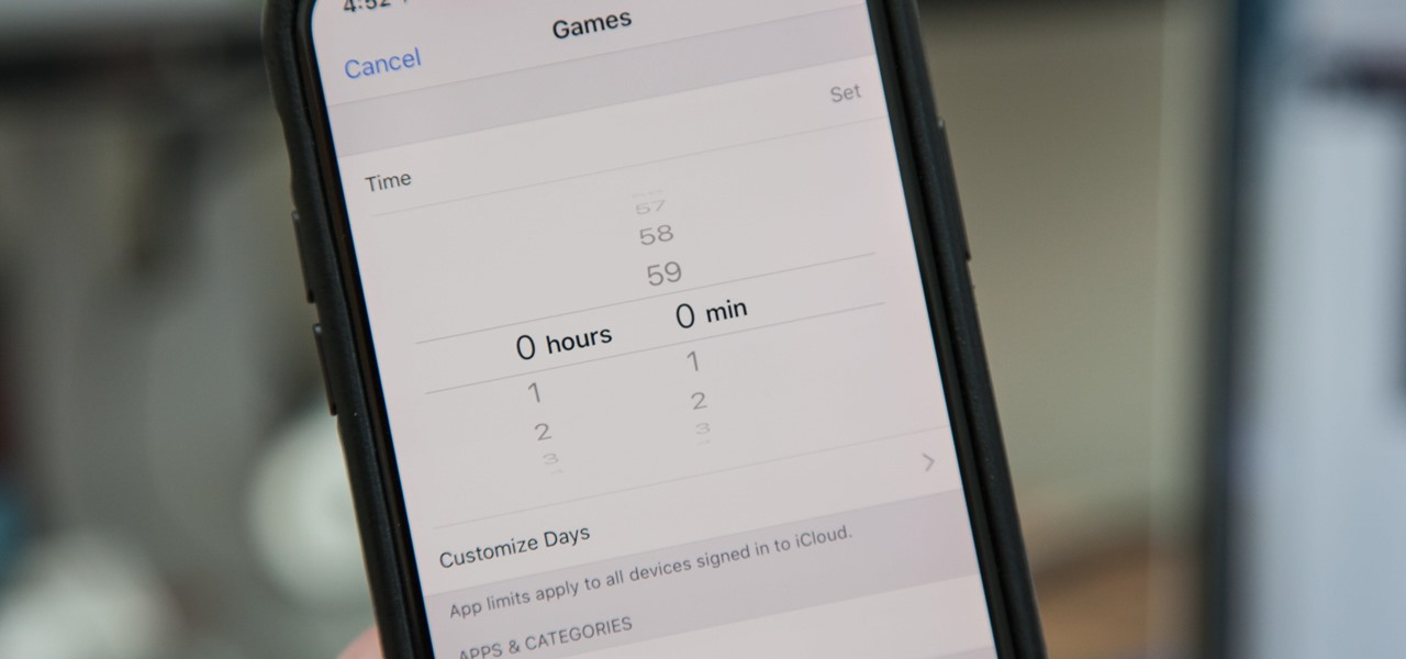 Set App Limits on Your iPhone in iOS 12 to Restrict All-Day Access to Games & Other Addictive Apps