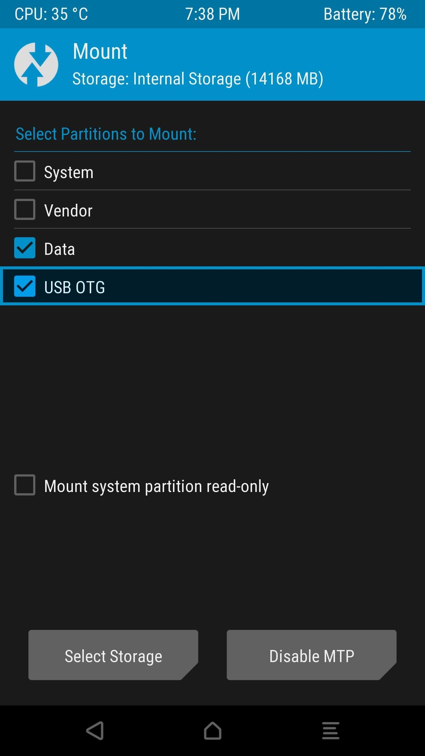 Twrp 101 How To Mount Your Sd Card Or Usb Otg Drive To Flash