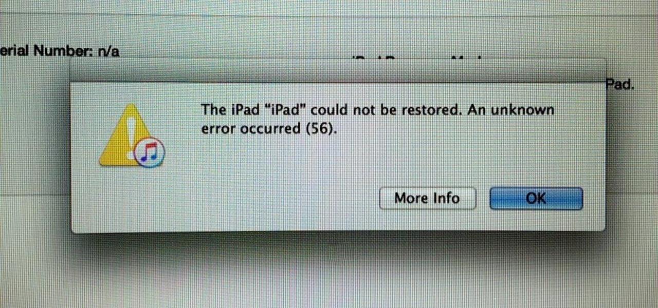 Bricked iPad Pros, Error 56, & How to Fix