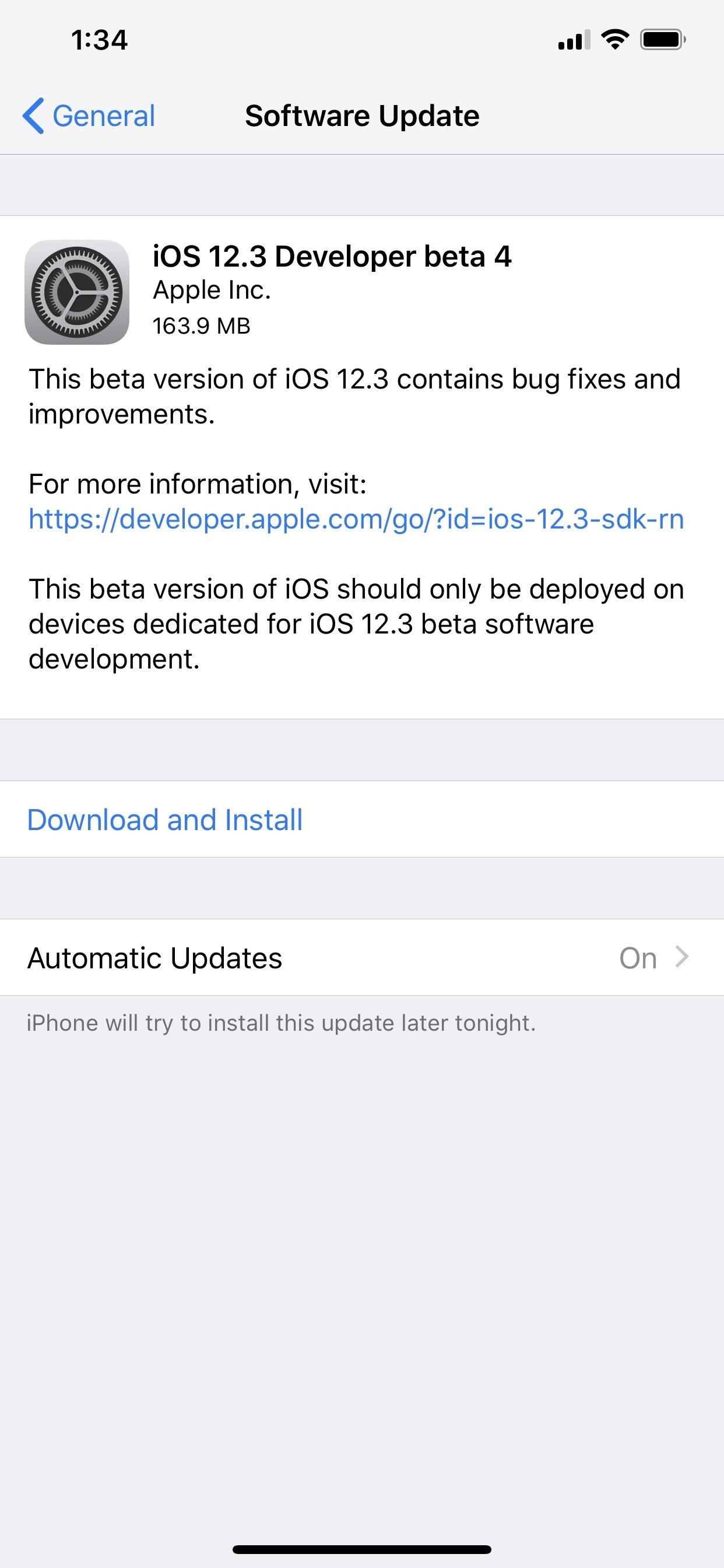 Apple Releases iOS 12.3 Beta 4 for iPhone to Developers