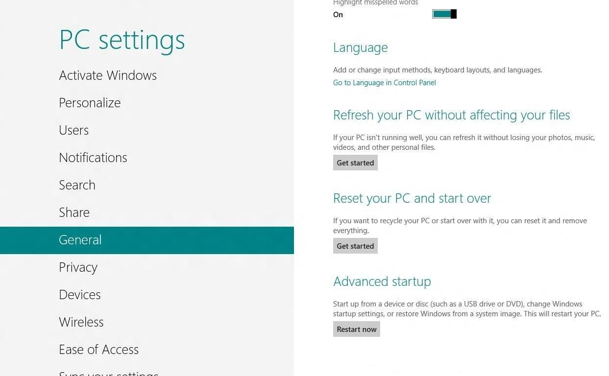 how to open startup menu in windows 8