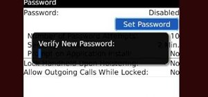 Protect your Blackberry with a password