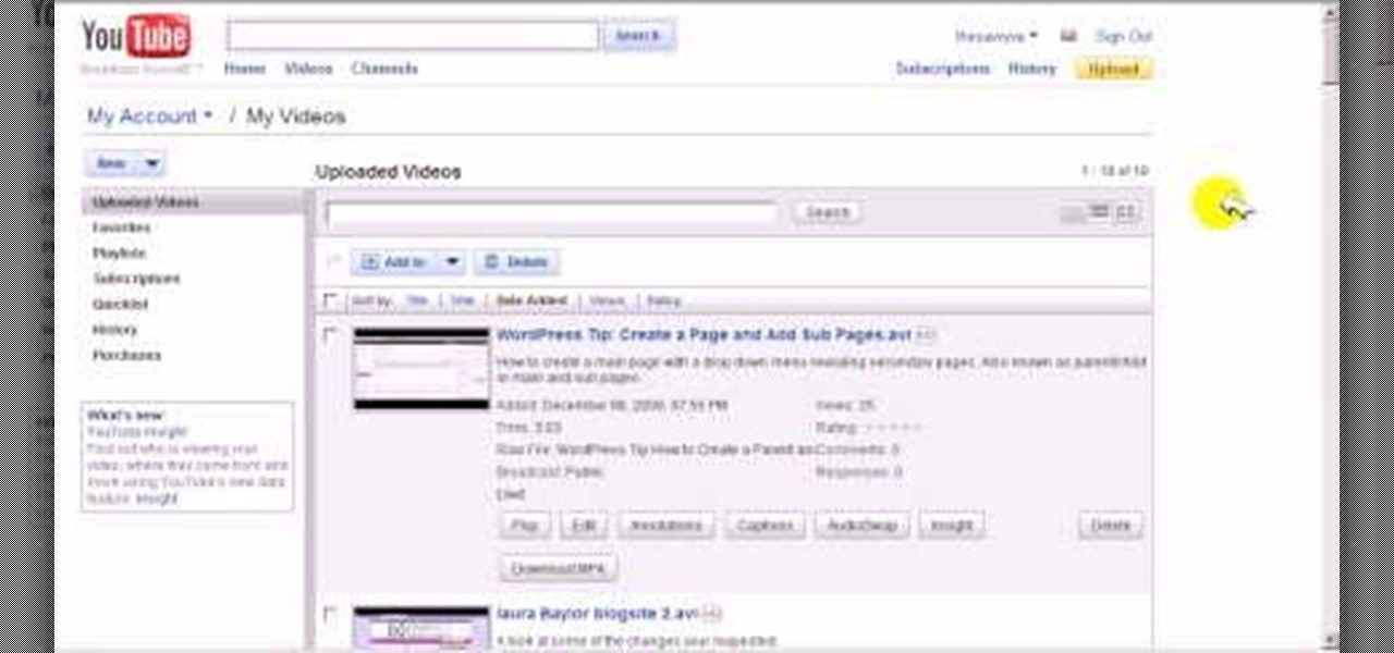 How to Change the video thumbnail on a YouTube video « Internet :: Gadget Hacks