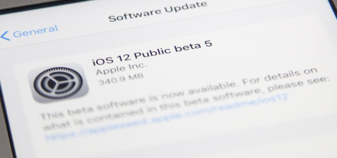 iOS 12 Public Beta 5 Released to iPhone Software Testers